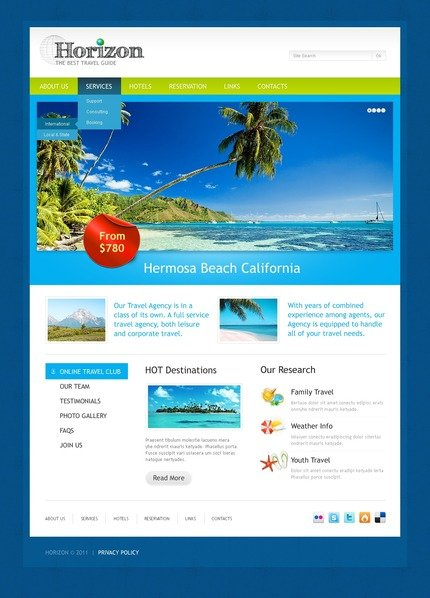 ADOBE Photoshop Template 56706 Home Page Screenshot