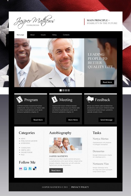 ADOBE Photoshop Template 56714 Home Page Screenshot
