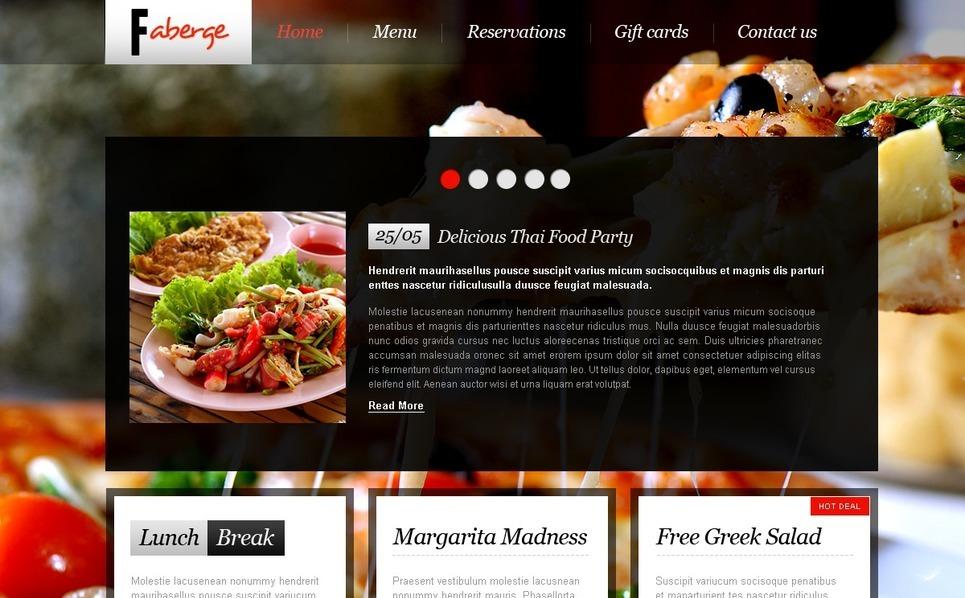Template Photoshop  para Sites de Cafeteria e Restaurante №56716 New Screenshots BIG