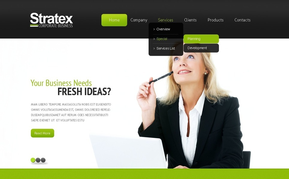Szablon PSD #56719 na temat: biznes i usługi New Screenshots BIG