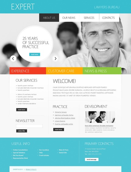 ADOBE Photoshop Template 56723 Home Page Screenshot