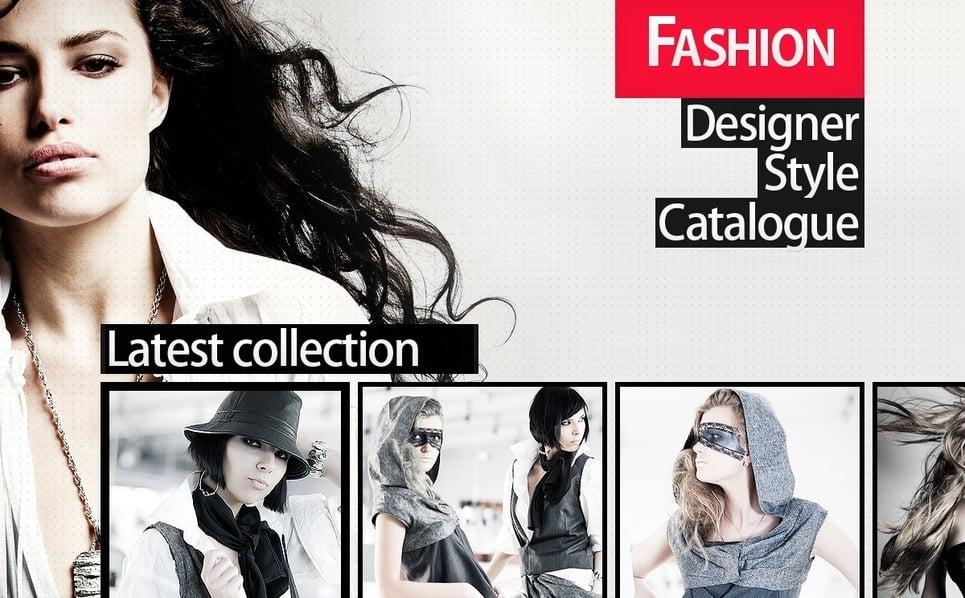 Tema PSD  #56724 per Un Sito di Moda New Screenshots BIG