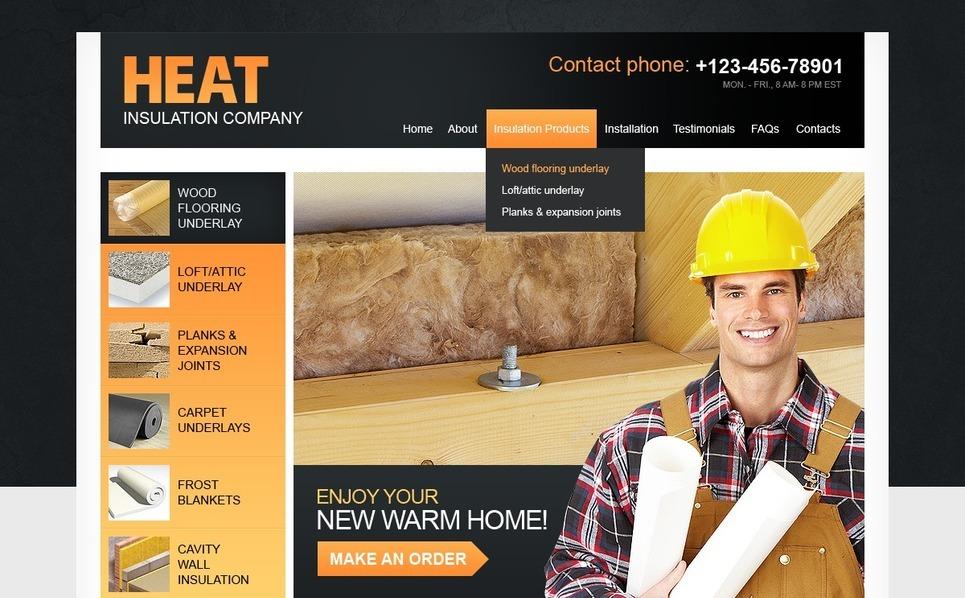 Plantilla PSD #56727 para Sitio de Industria New Screenshots BIG