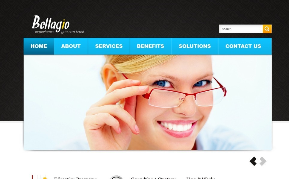 Template Photoshop  para Sites de Business & Services №56730 New Screenshots BIG