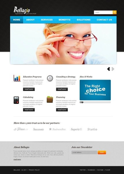 ADOBE Photoshop Template 56730 Home Page Screenshot