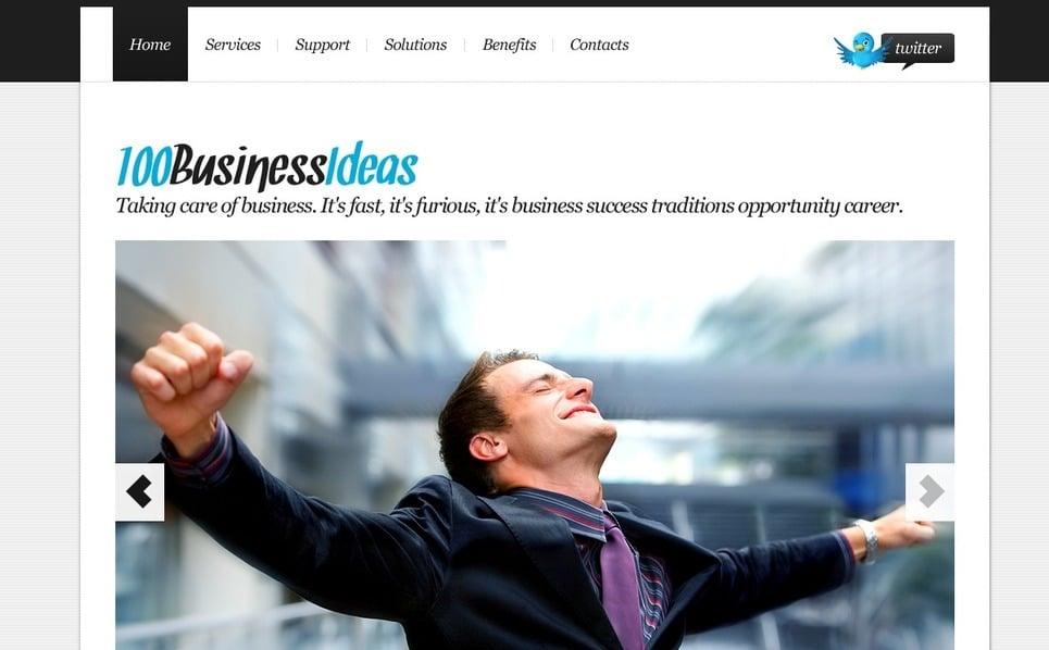 PSD шаблон №56731 на тему Бизнес и услуги New Screenshots BIG