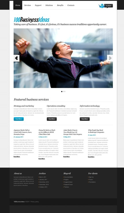 ADOBE Photoshop Template 56731 Home Page Screenshot
