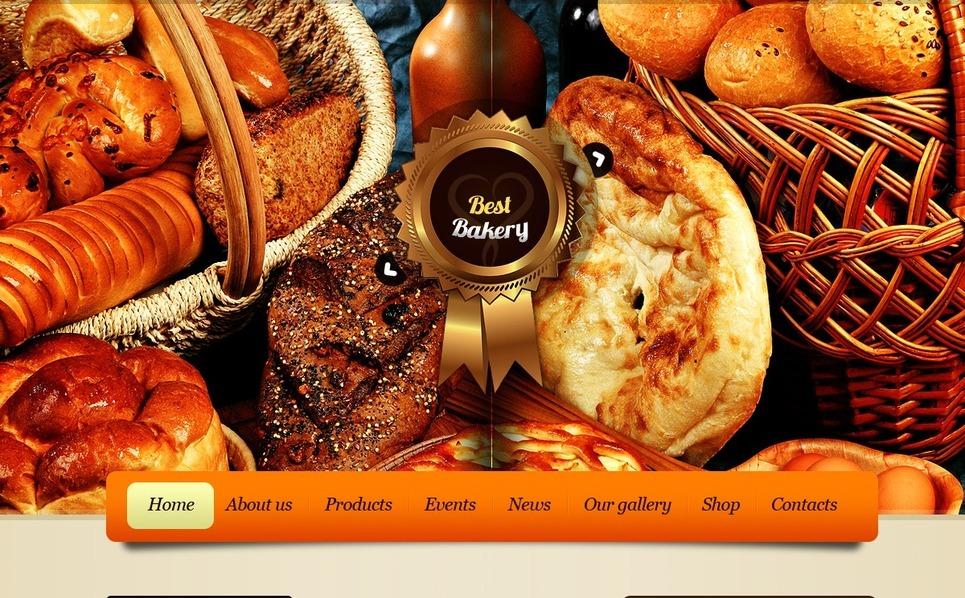 Szablon PSD #56732 na temat: piekarnia New Screenshots BIG