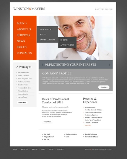 ADOBE Photoshop Template 56734 Home Page Screenshot