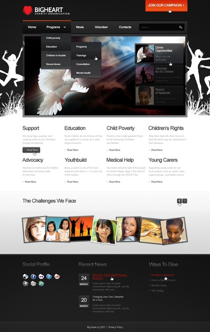 ADOBE Photoshop Template 56736 Home Page Screenshot