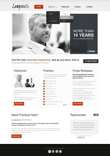 PSD макет сайта №56737