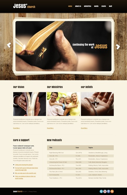 ADOBE Photoshop Template 56744 Home Page Screenshot