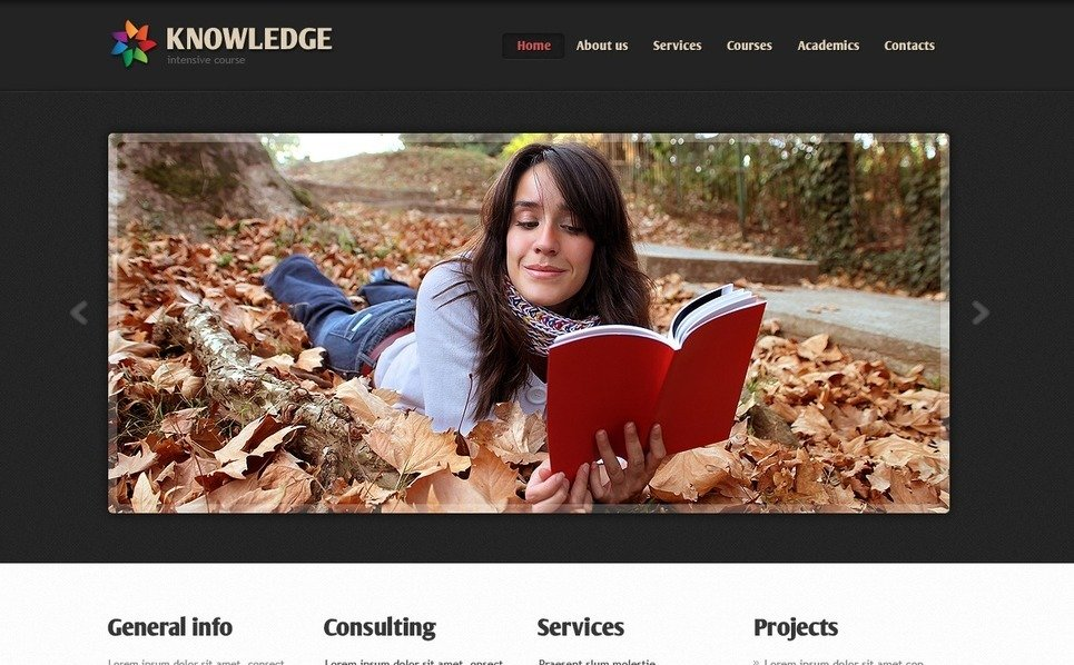 Szablon PSD #56746 na temat: edukacja New Screenshots BIG