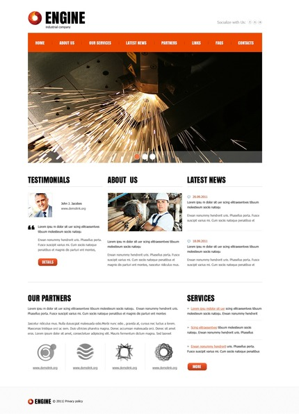 PSD макет сайта №56747