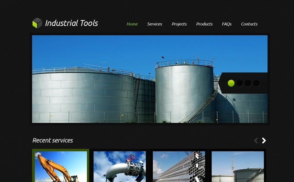 Modello PSD  #56750 per Un Sito di Industria New Screenshots BIG