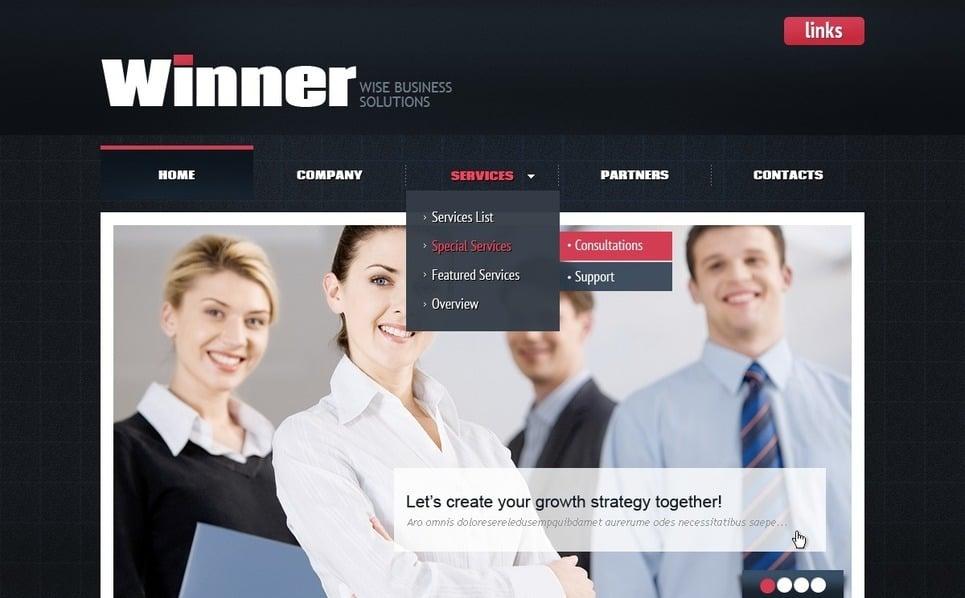 Plantilla PSD #56752 para Sitio de Negocio y Servicios New Screenshots BIG