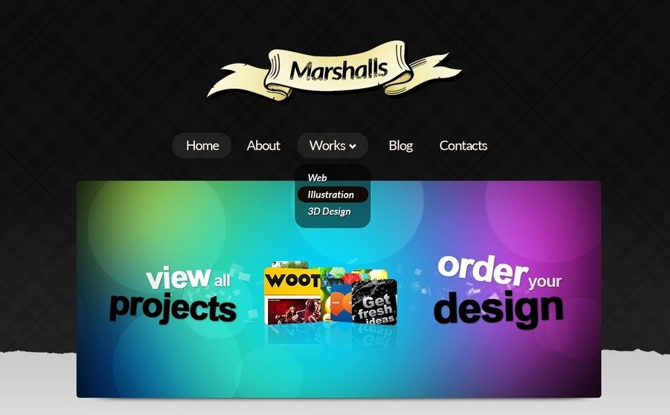 Modello PSD  #56756 per Un Sito di Design Studio New Screenshots BIG