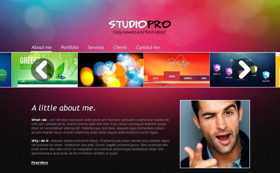 Tema PSD  #56757 per Un Sito di Design Studio New Screenshots BIG