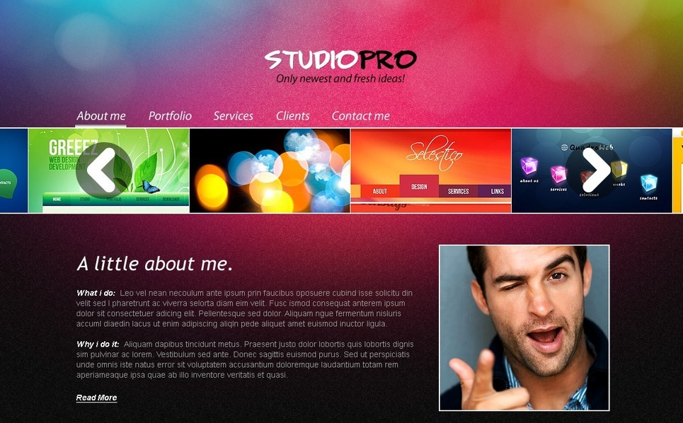 Template Photoshop  para Sites de Estúdio de Design №56757 New Screenshots BIG