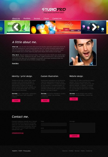 ADOBE Photoshop Template 56757 Home Page Screenshot