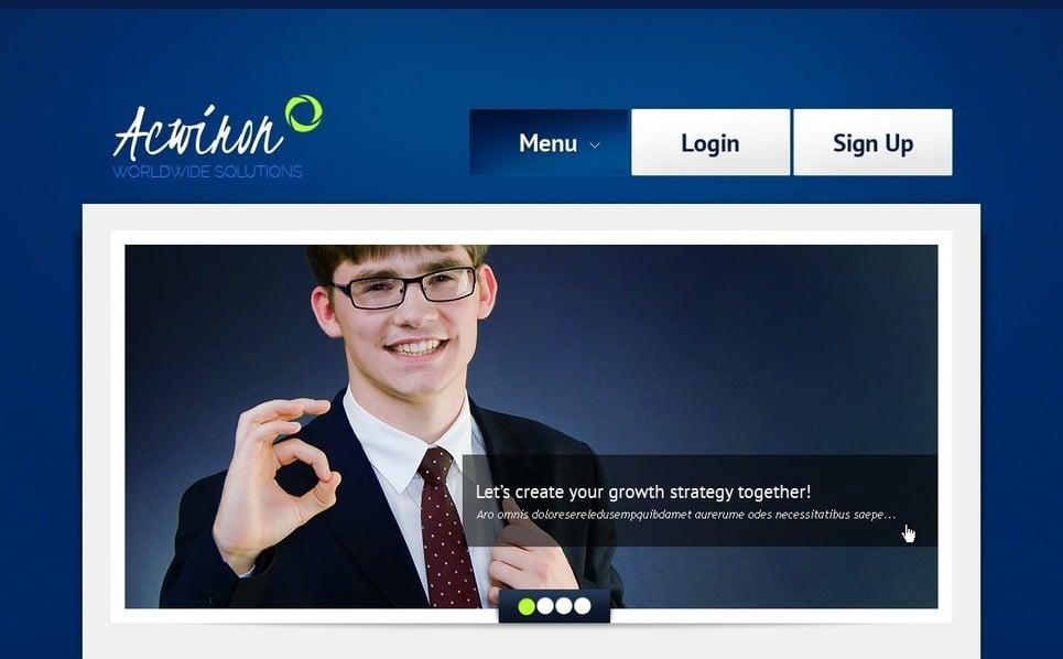 Template Photoshop  para Sites de Business & Services №56759 New Screenshots BIG