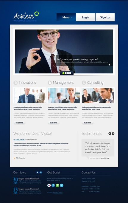 ADOBE Photoshop Template 56759 Home Page Screenshot