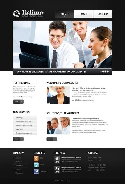 ADOBE Photoshop Template 56767 Home Page Screenshot