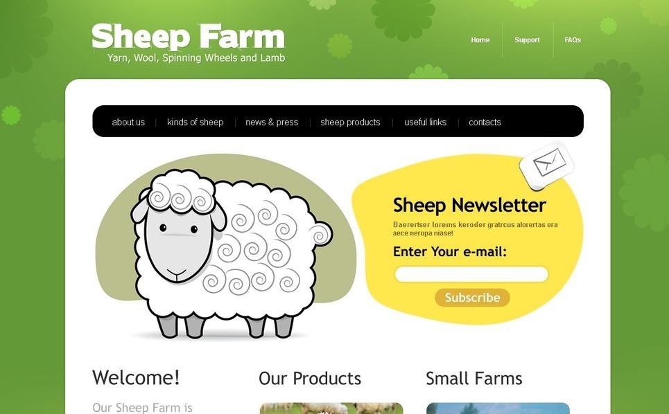 Szablon PSD #56769 na temat: gospodarstwo hodowli owiec New Screenshots BIG