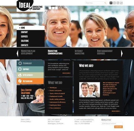 ADOBE Photoshop Template 56771 Home Page Screenshot