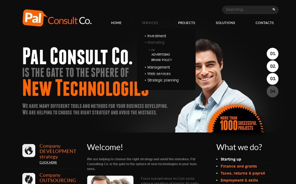 Template Photoshop  para Sites de Consultoria №56773 New Screenshots BIG