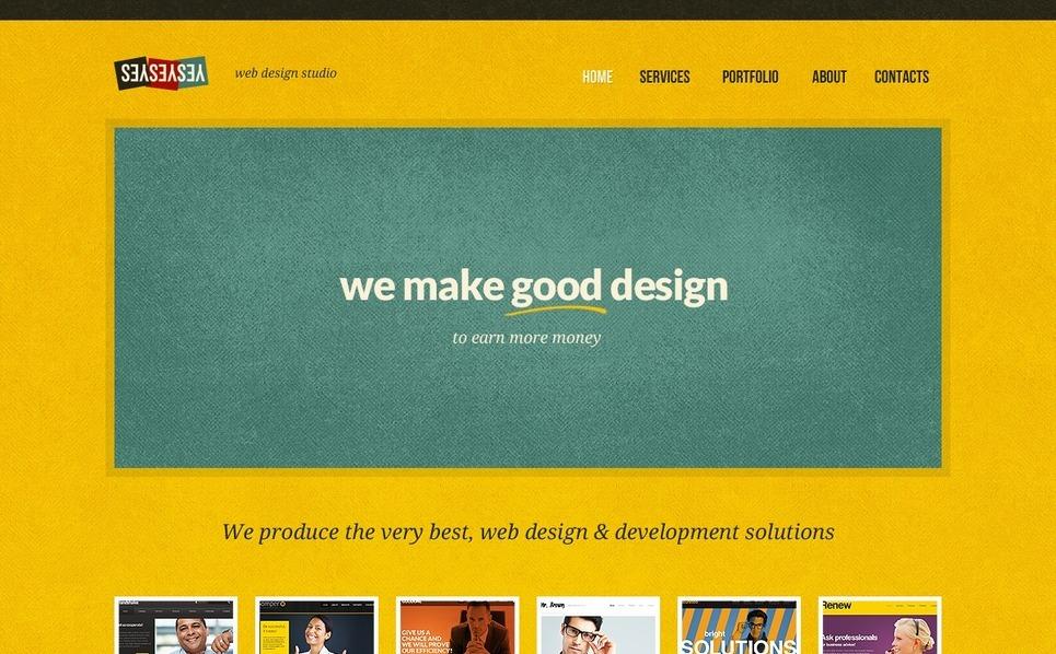 Plantilla PSD #56775 para Sitio de Estudio de diseño New Screenshots BIG