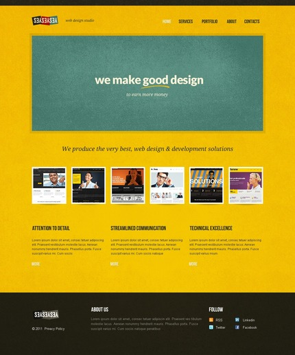 ADOBE Photoshop Template 56775 Home Page Screenshot
