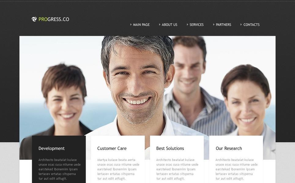 Plantilla PSD #56776 para Sitio de Negocio y Servicios New Screenshots BIG