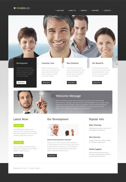 ADOBE Photoshop Template 56776 Home Page Screenshot