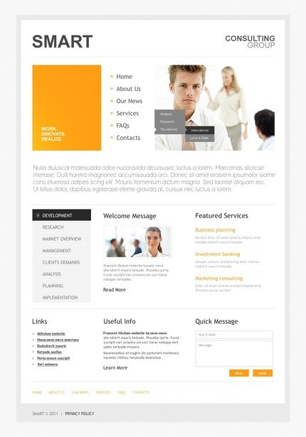 ADOBE Photoshop Template 56777 Home Page Screenshot