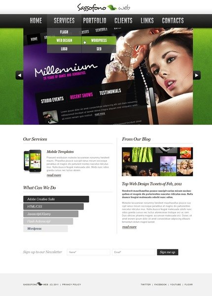 ADOBE Photoshop Template 56780 Home Page Screenshot