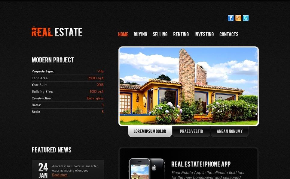 PSD Vorlage für Immobilien  New Screenshots BIG
