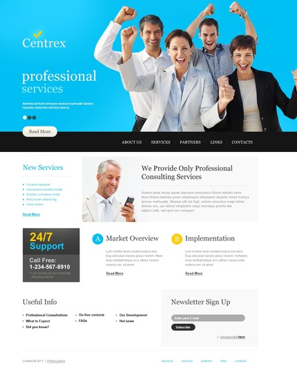ADOBE Photoshop Template 56782 Home Page Screenshot