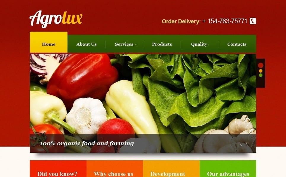 Agriculture PSD Template New Screenshots BIG