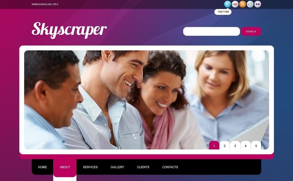 Plantilla PSD #56788 para Sitio de Negocio y Servicios New Screenshots BIG