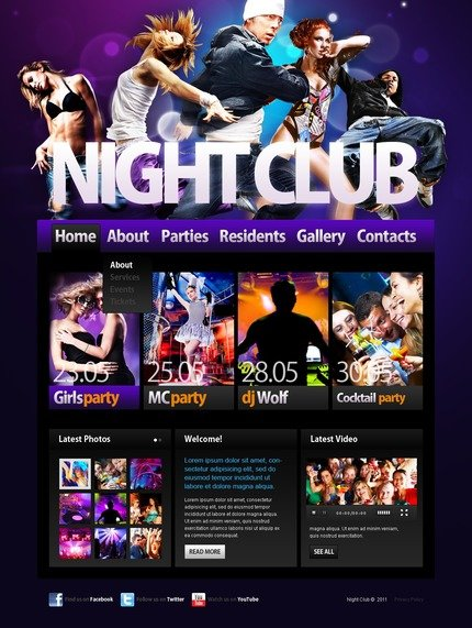 ADOBE Photoshop Template 56794 Home Page Screenshot