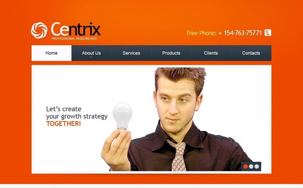 PSD шаблон №56796 на тему бизнес и услуги New Screenshots BIG