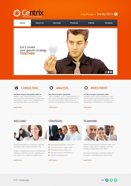ADOBE Photoshop Template 56796 Home Page Screenshot