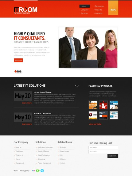 ADOBE Photoshop Template 56798 Home Page Screenshot