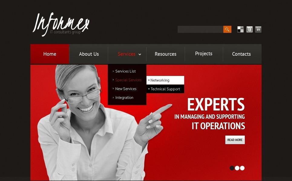 Szablon PSD #56799 na temat: usługi doradcze New Screenshots BIG