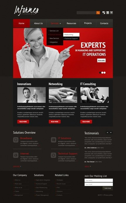 ADOBE Photoshop Template 56799 Home Page Screenshot