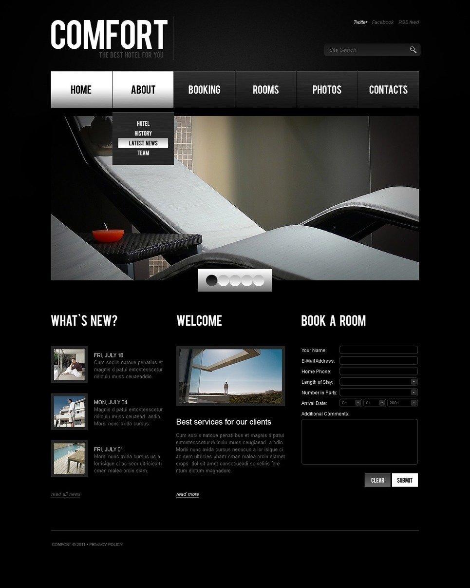Hotel Reviews PSD Template New Screenshots BIG