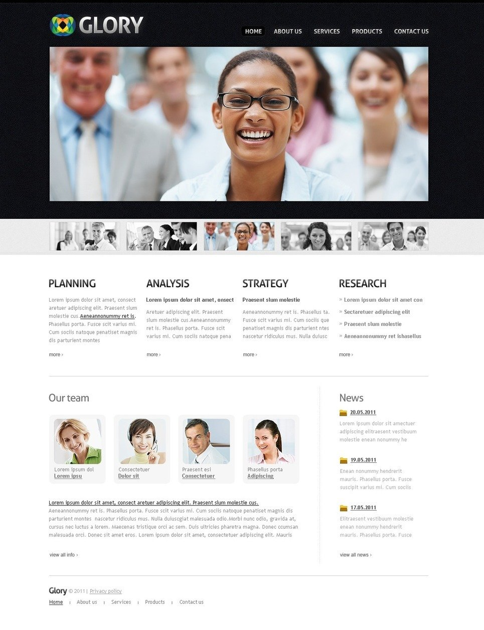 Management Company PSD Template New Screenshots BIG