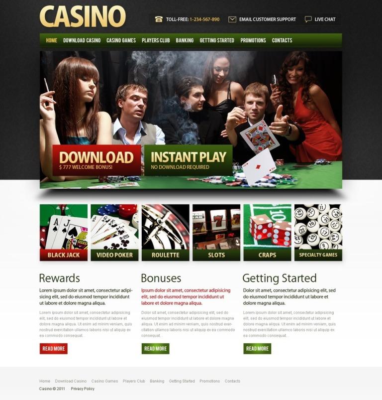 Online Casino PSD Template New Screenshots BIG
