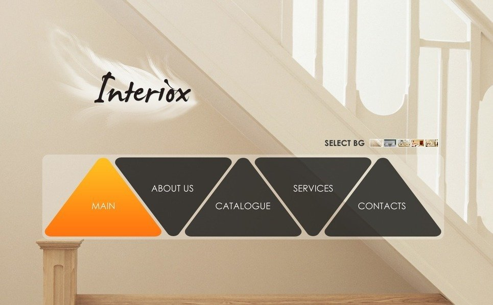PSD шаблон на тему інтер'єр та меблі New Screenshots BIG
